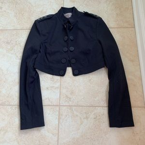 Forever 21 Navy Blue Short Blazers Jackets Size:S.